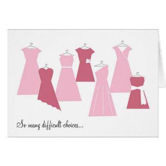 Be My Bridesmaid Card (Pink Dresses)