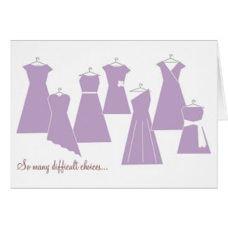 Be my Bridesmaid Card Purple Dresses
