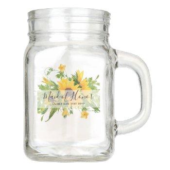 Be My Bridesmaid Flowergirl Maid Honor Thank You Mason Jar