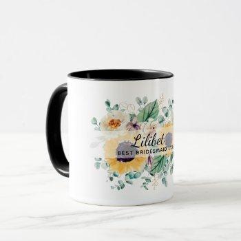 Be My Bridesmaid Flowergirl Maid Honor Thank You Mug