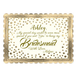Be My Bridesmaid | Golden Confetti Card