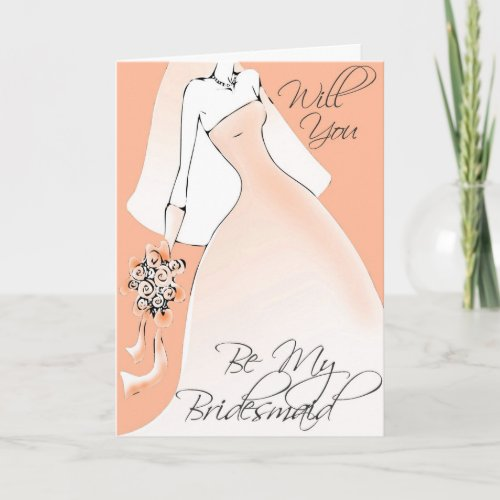 Be My Bridesmaid Invitation for Bridal Attendants card