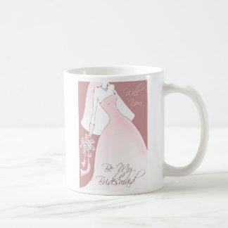 Be My Bridesmaid Invitation Mug