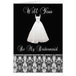 Be My Bridesmaid Invitation With Lace Cards