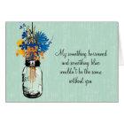Be My Bridesmaid - Mason Jar and Wildflowers Card