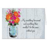 Be My Bridesmaid Mason Jar Gerber Daisies Stationery Note Card