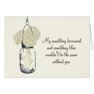 Be My Bridesmaid - Mason Jar Hydrangea Flowers Stationery Note Card