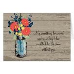 Be My Bridesmaid - Mason Jar & Wildflowers Greeting Cards