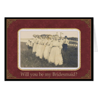 Be my Bridesmaid? - Nostalgic Vintage Card