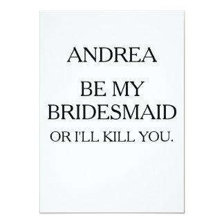 BE MY BRIDESMAID OR I'LL KILL YOU | BRIDESMAID INVITATION