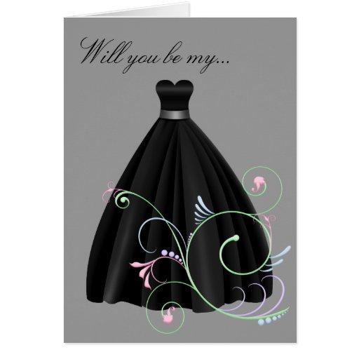 Be My Bridesmaid or Maid of Honor Card