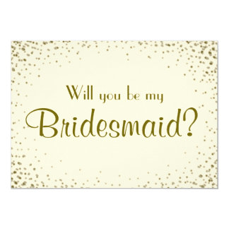 Be My Bridesmaid | Personalize Back Card
