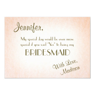 Be My Bridesmaid | Pretty Blush Card