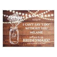 BE MY BRIDESMAID | RUSTIC COUNTRY BRIDESMAID CARD