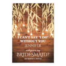 Be my Bridesmaid | Rustic Gold Foil Cards