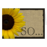 Be My Bridesmaid Rustic Sunflower Cards