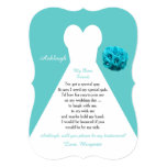 Be My Bridesmaid Wedding Dress on Aqua Card