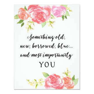 Be My Bridesmaid White Watercolor YOU 4.25x5.5 Paper Invitation Card