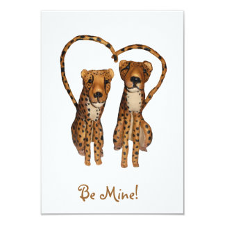 Be My Cheetah (white)! Card