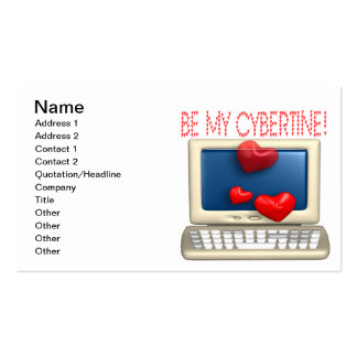 Be My Cybertine Double-Sided Standard Business Cards (Pack Of 100)