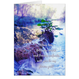 be my flower girl waterhaze invite card