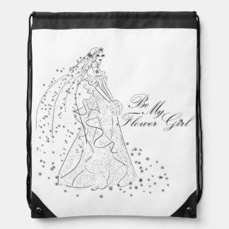 Be My Flowergirl Gift Wrap Bag Backpack