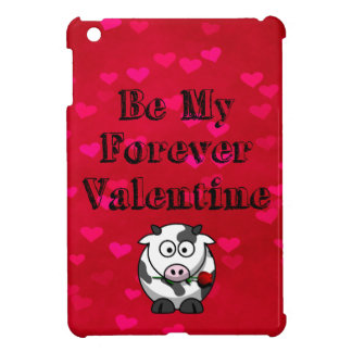 Be My Forever Valentine Cow Rose Case For The iPad Mini