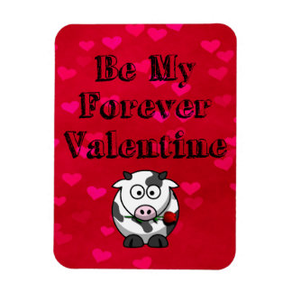 Be My Forever Valentine Cow Rose Magnet
