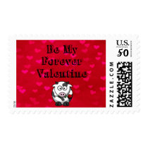 Be My Forever Valentine Cow Rose Postage