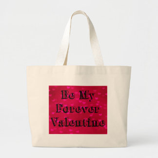 Be My Forever Valentine Heart Pattern Large Tote Bag