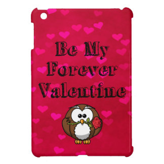 Be My Forever Valentine Owl Rose iPad Mini Covers