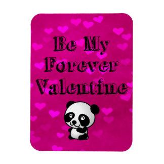 Be My Forever Valentine Panda Bear Magnet