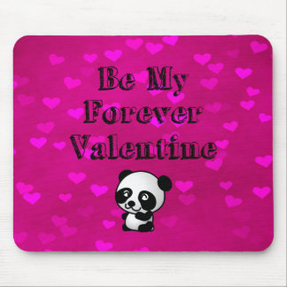 Be My Forever Valentine Panda Bear Mouse Pad