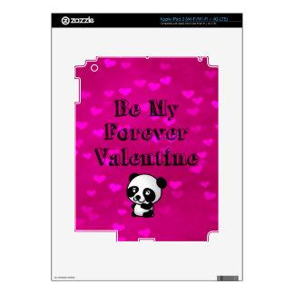 Be My Forever Valentine Panda Bear Skin For iPad 3