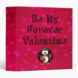 Be My Forever Valentine Penguin Binder