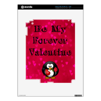 Be My Forever Valentine Penguin Design Decal For The iPad 2
