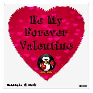 Be My Forever Valentine Penguin Wall Sticker