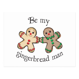 be my gingerbread man postcards