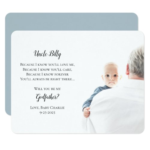 Be My Godfather Proposal Photo Invitation