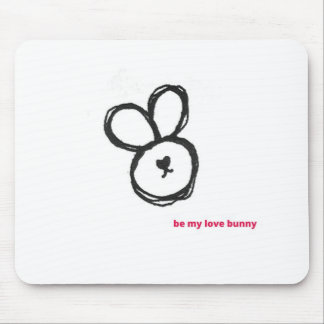 be my love bunny mouse pad