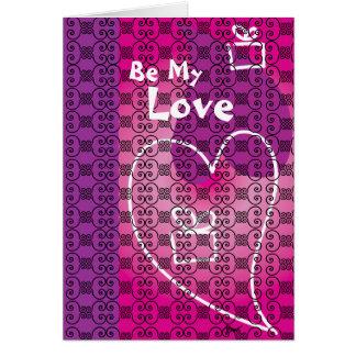 Be My Love (purple) Valentine's Card