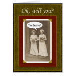 Be my Maid of Honor? Greeting Cards