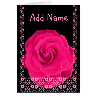 Be My Maid of Honor - Pink Rose & Lace Card