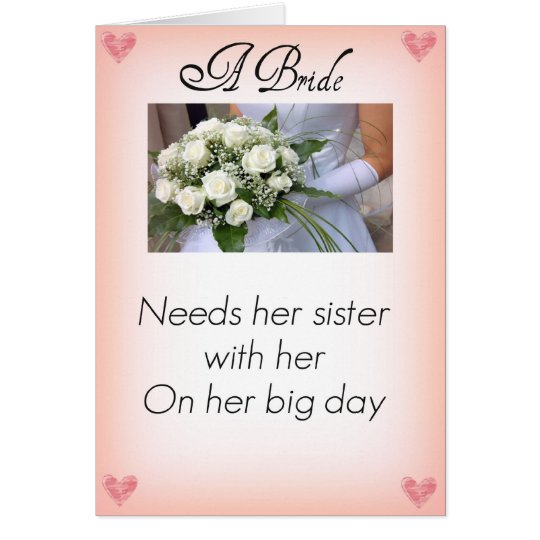 Be My Maid of Honor Sister Card