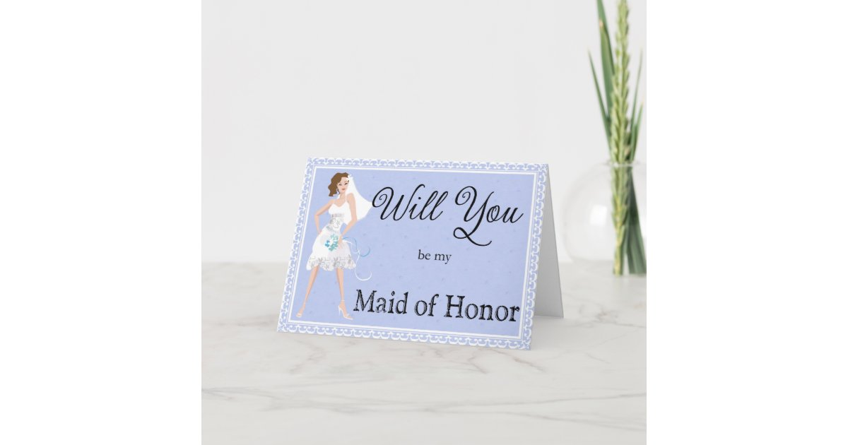 Honor Or Honour On Wedding Invitations: Be My Maid Of Honor Wedding Invitation