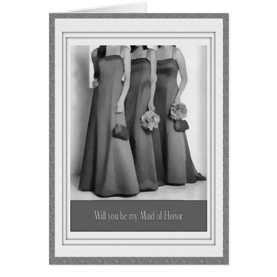 Be my Maid of Honor Wedding Party Invitiation Card