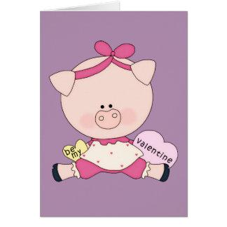 Be My Piggy Valentine Card