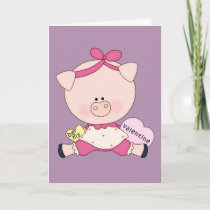 Be My Piggy Valentine Holiday Card