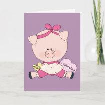 Be My Piggy Valentine Holiday Card