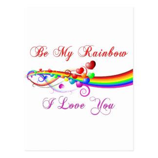 Be My Rainbow Gay Valentine Postcard